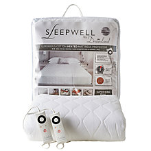 Buy Dreamland Sleepwell Dual Control Heated Mattress Protector Online at johnlewis.com