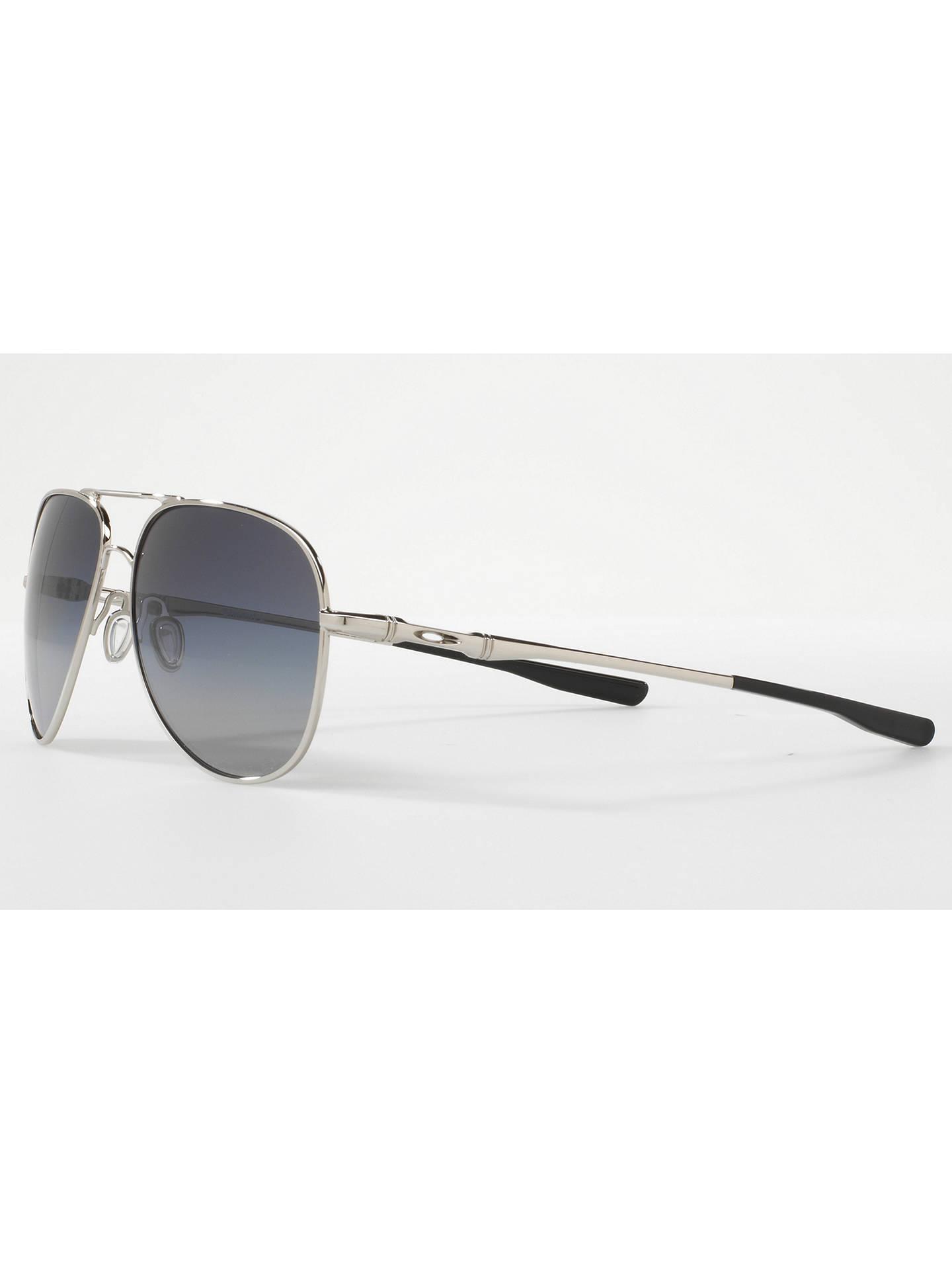 9373a9c7ea Oakley OO4119 Elmont Large Polarised Aviator Sunglasses at John ...