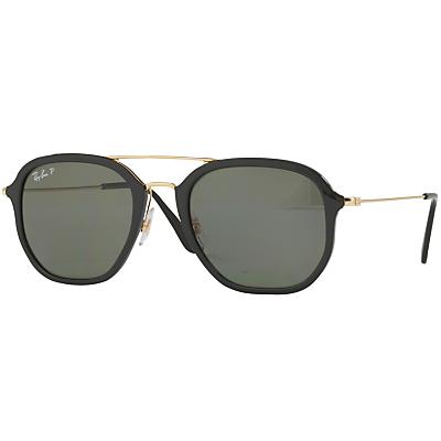 Ray-Ban RB4273 Polarised Square Sunglasses, Black
