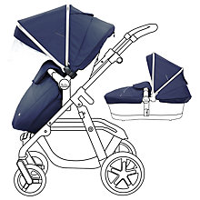 Buy Silver Cross Wayfarer Pushchair and Essentials Pack with free car seat, Vintage Blue Online at johnlewis.com