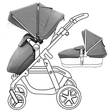 Buy Silver Cross Graphite Pioneer Set with Free Simplicity Car Seat, Silver Online at johnlewis.com