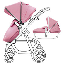 Buy Silver Cross Graphite Pioneer Set with Free Simplicity Car Seat, Vintage Pink Online at johnlewis.com