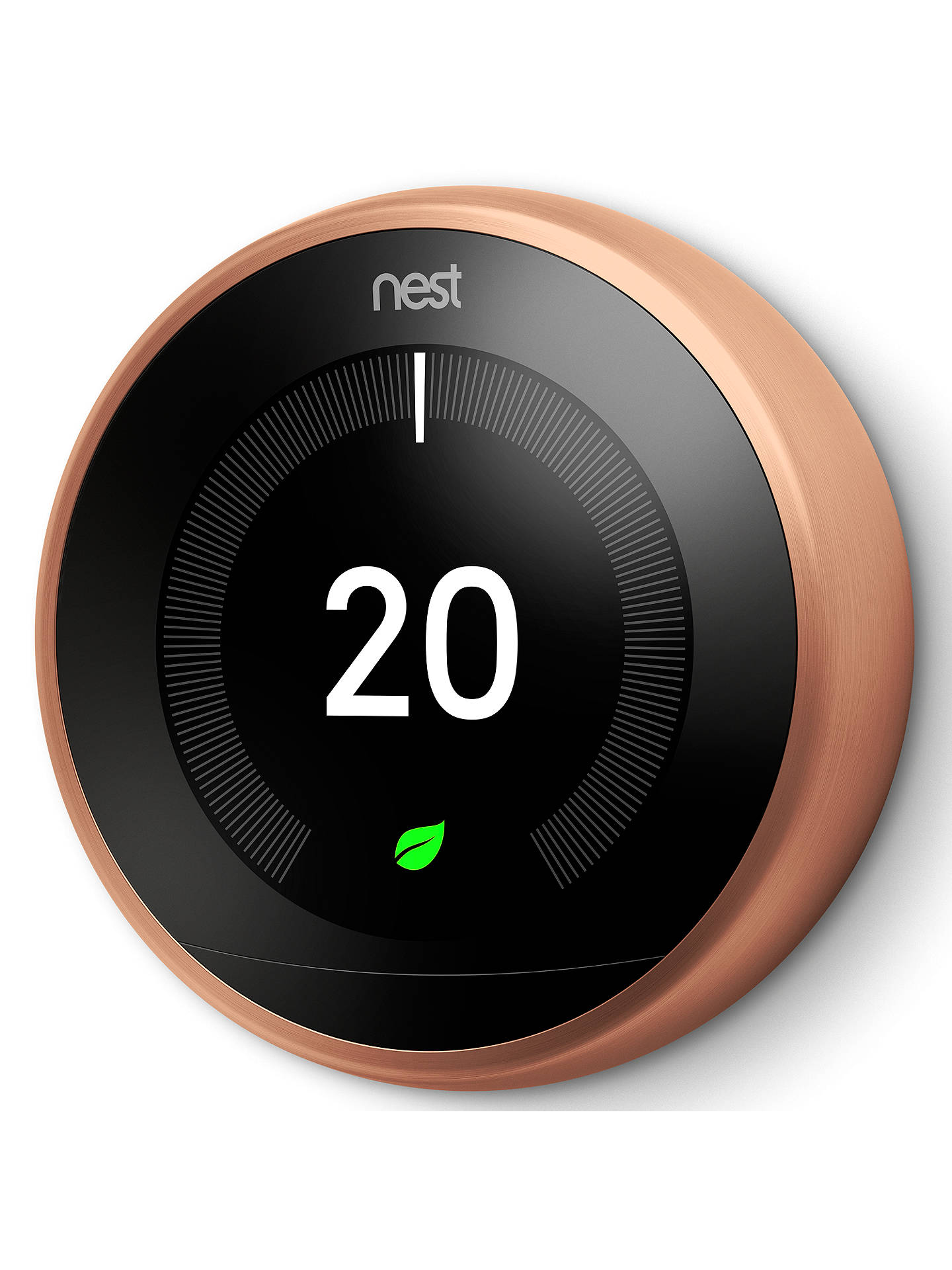 Nest Learning Thermostat 3rd Generation At John Lewis Partners Advent Air Wiring Diagram Buynest Copper Online