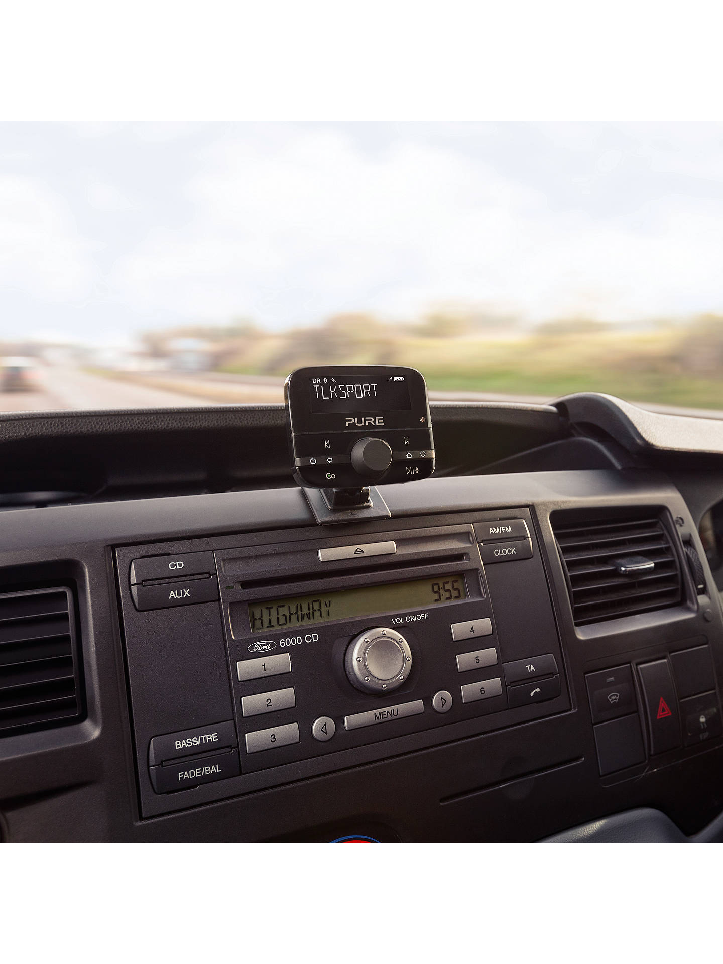 Buy Pure Highway 400 In-Car DAB+ Radio and Audio Adapter with Bluetooth, Black Online at johnlewis.com