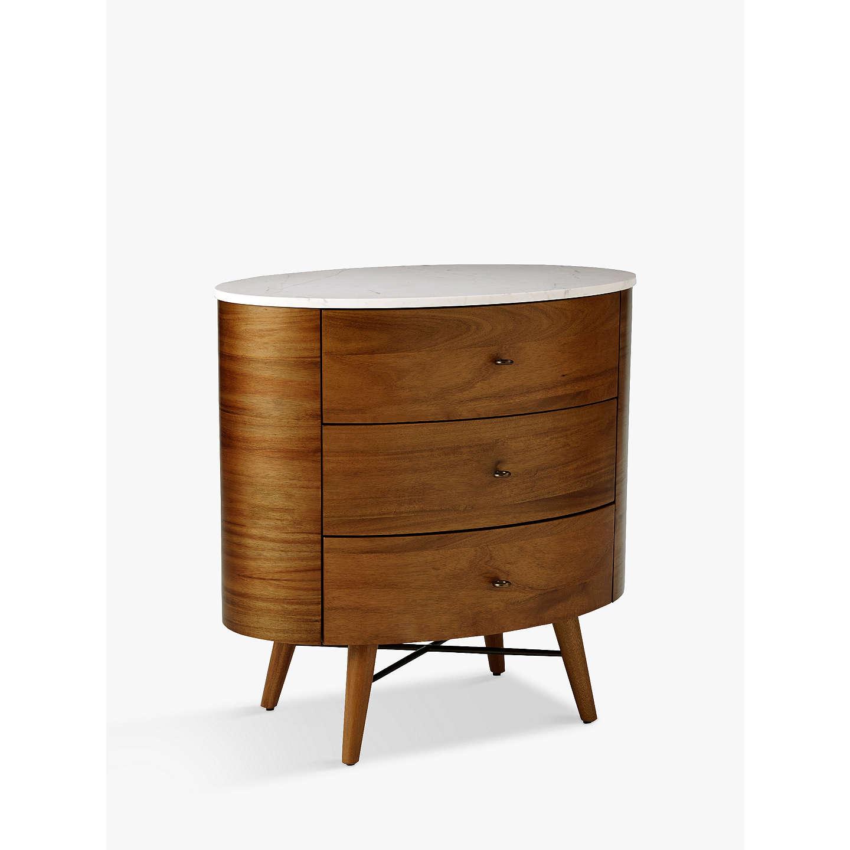 Buywest Elm Penelope 3 Drawer Bedside Table Online At Johnlewis.com ...