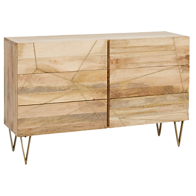 Roar + Rabbit for west elm Geo Inlay 6 Drawer Chest