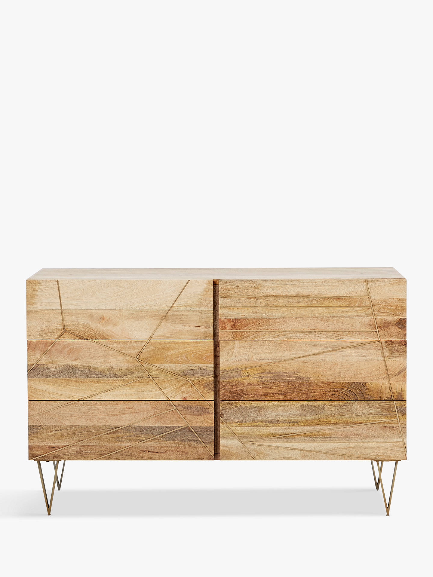 BuyRoar + Rabbit for west elm Geo Inlay 6 Drawer Chest Online at johnlewis.com