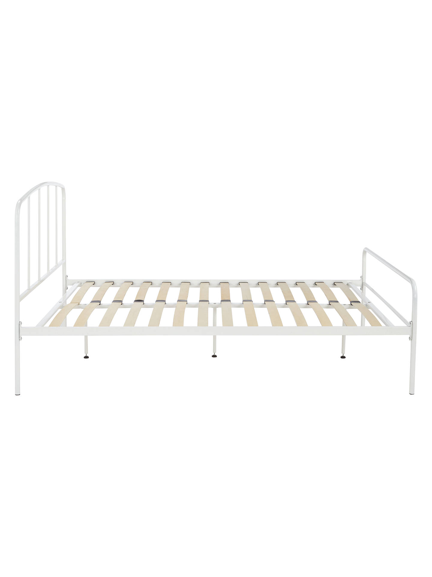Buy John Lewis & Partners Alpha Bed Frame, Double, White Online at johnlewis.com