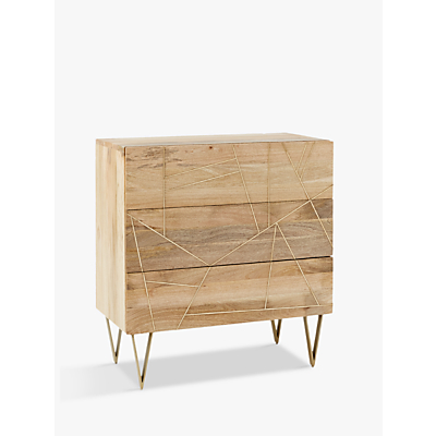Roar + Rabbit for west elm Geo Inlay 3 Drawer Chest