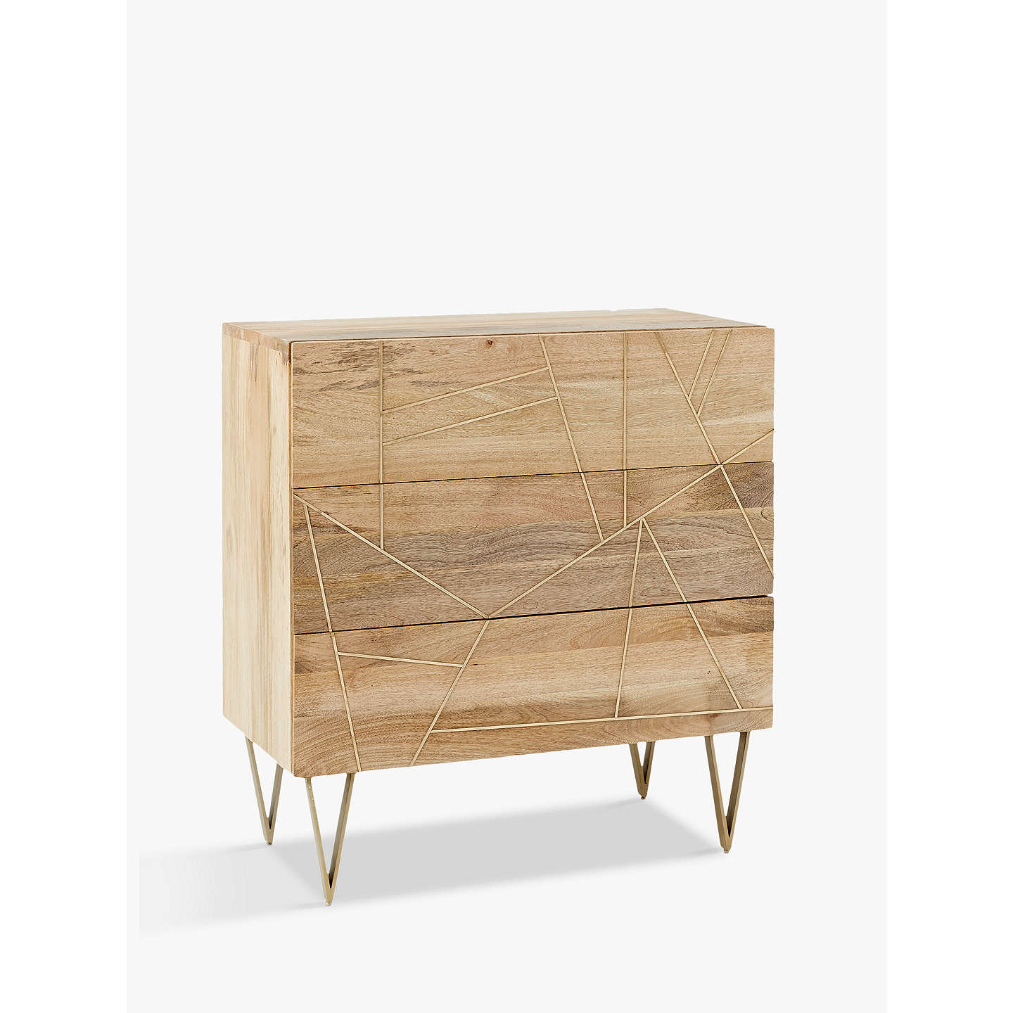 BuyRoar + Rabbit for west elm Geo Inlay 3 Drawer Chest Online at johnlewis.com