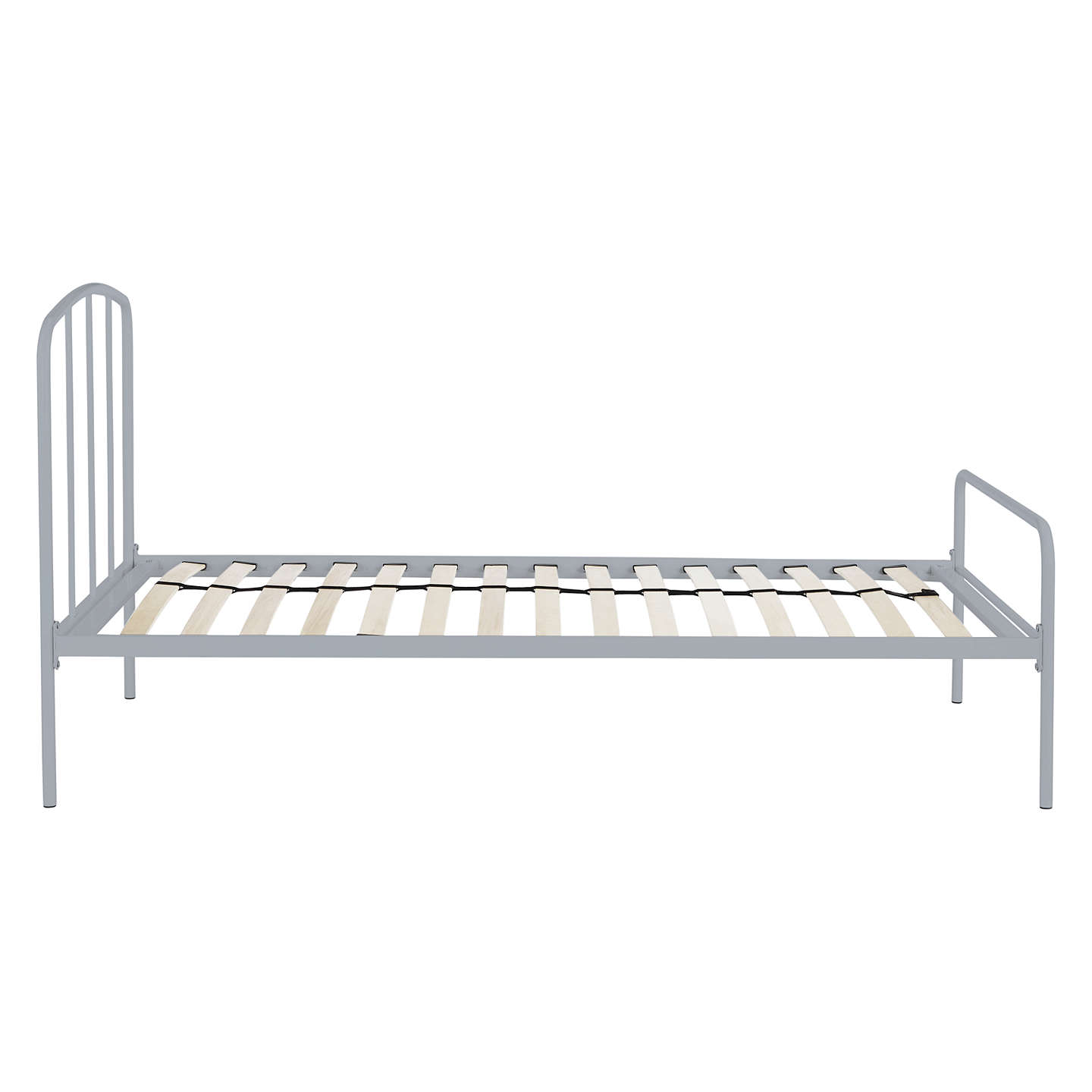 Buylittle home at John Lewis The Basics Alpha Metal Bed Frame, Single, Grey Online at johnlewis.com