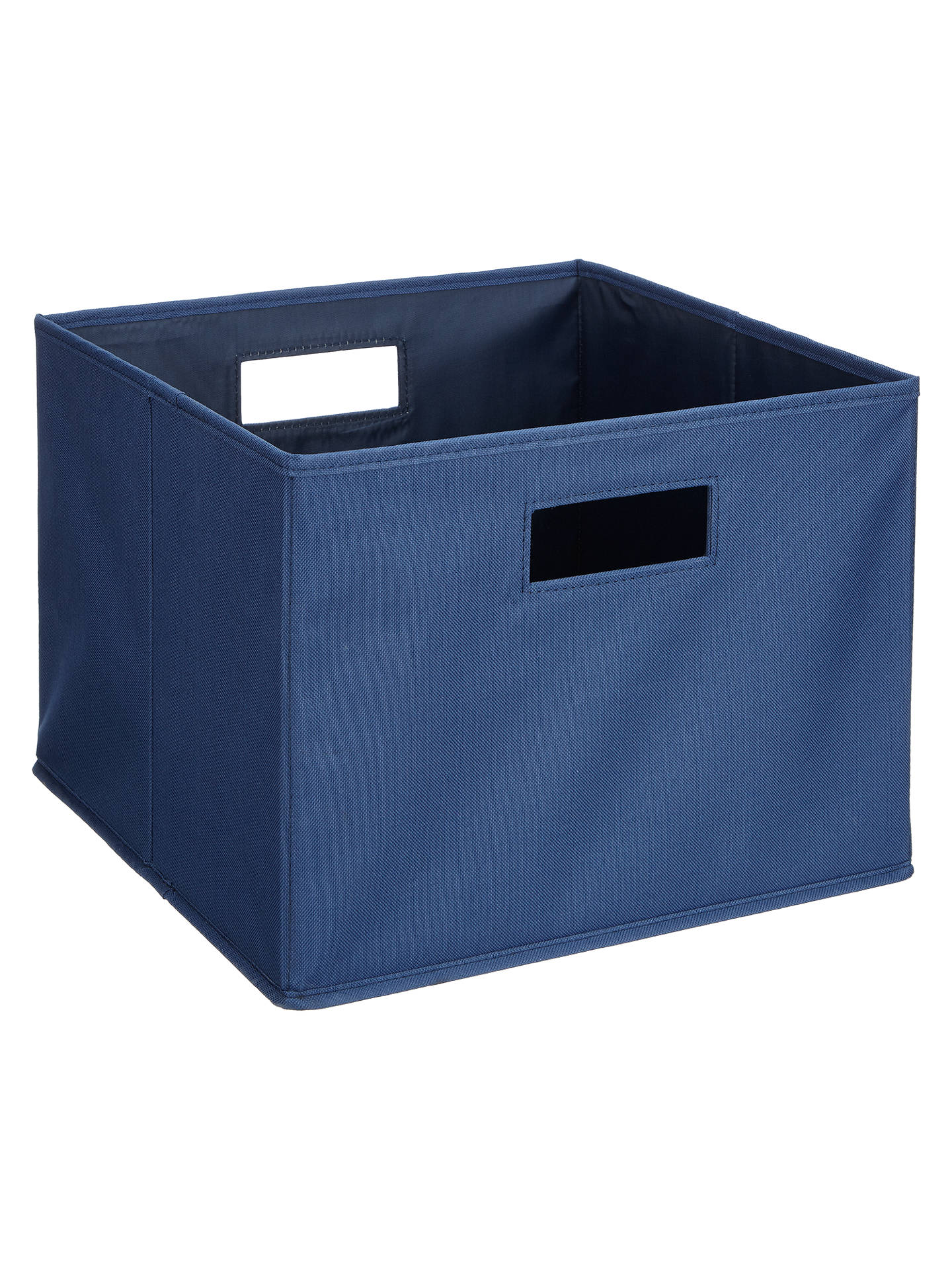 House by John Lewis Folding Storage Box, Medium, Navy at ...