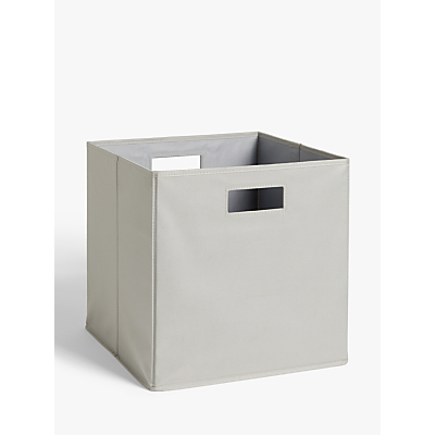 House by John Lewis Folding Storage Box, Large, Grey