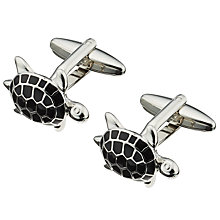 Buy John Lewis Turtle Cufflinks, Silver Online at johnlewis.com