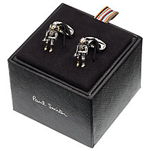 Buy Paul Smith Spaceman Cufflinks, Silver Online at johnlewis.com
