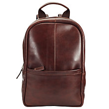 Buy John Lewis Gladstone Leather Backpack, Tan Online at johnlewis.com
