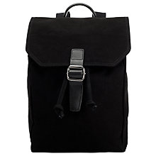 Buy John Lewis Kingston Canvas Backpack, Black Online at johnlewis.com
