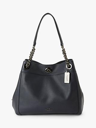 Coach Turnlock Edie Leather Shoulder Bag