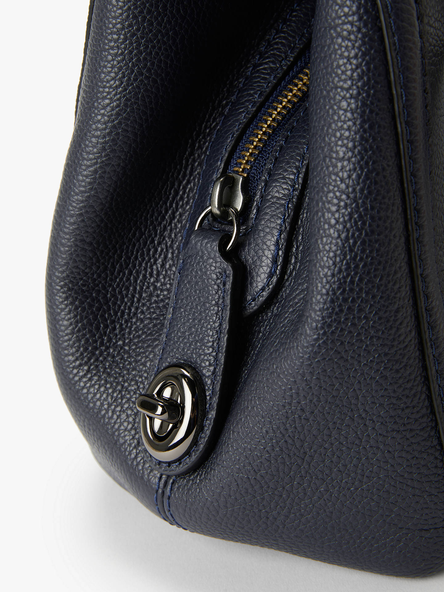bf42082c2b ... canada buycoach turnlock edie leather shoulder bag navy online at  johnlewis c1572 2bea7