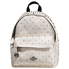 Buy Coach Mini Campus Leather Backpack Online at johnlewis.com
