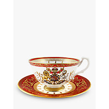 Buy Royal Collection Bone China Coronation Teacup And Saucer Online at johnlewis.com
