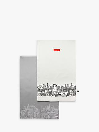 Sketch London Tea Towels, Set of 2