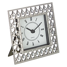 Buy John Lewis Silver Jewels Clock Online at johnlewis.com