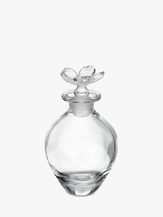 John Lewis & Partners Glass Flower Perfume Bottle