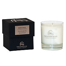 Buy Harrogate Candle Company Candle 'Divine' Dark Amber & Sandalwood Online at johnlewis.com