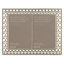 Buy John Lewis Silver Jewels Double Picture Frame Online at johnlewis.com