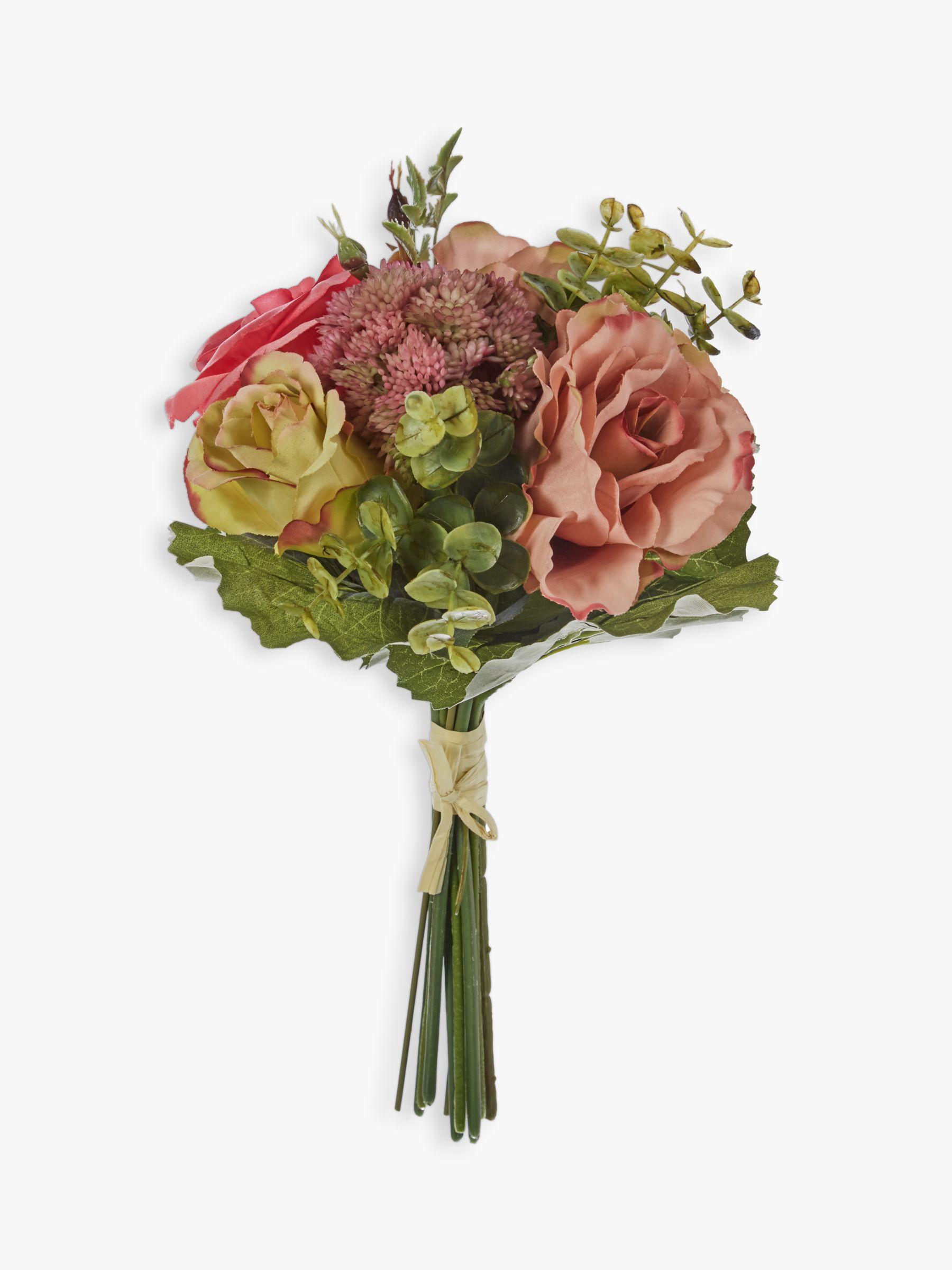 John Lewis Partners Artificial Rose Eucalyptus Flower Bundle At John Lewis Partners