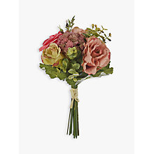Buy John Lewis Artificial Rose & Eucalyptus Flower Bundle Online at johnlewis.com