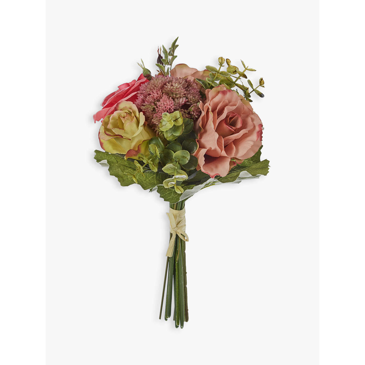 John lewis artificial rose eucalyptus flower bundle at john lewis buyjohn lewis artificial rose eucalyptus flower bundle online at johnlewis mightylinksfo