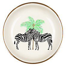 Buy Fenella Smith Zebra and Palm Tree Ring Plate Online at johnlewis.com