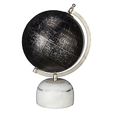 "Buy John Lewis Black Globe with Marble Base, 8"" Online at johnlewis.com"