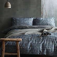 Buy cloth & clay Nordic Nights Haze Duvet Cover and Pillowcase Set Online at johnlewis.com