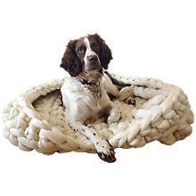 Buy Wool Couture Extreme Yarn Dog Bed Crochet Kit, Cream Online at johnlewis.com