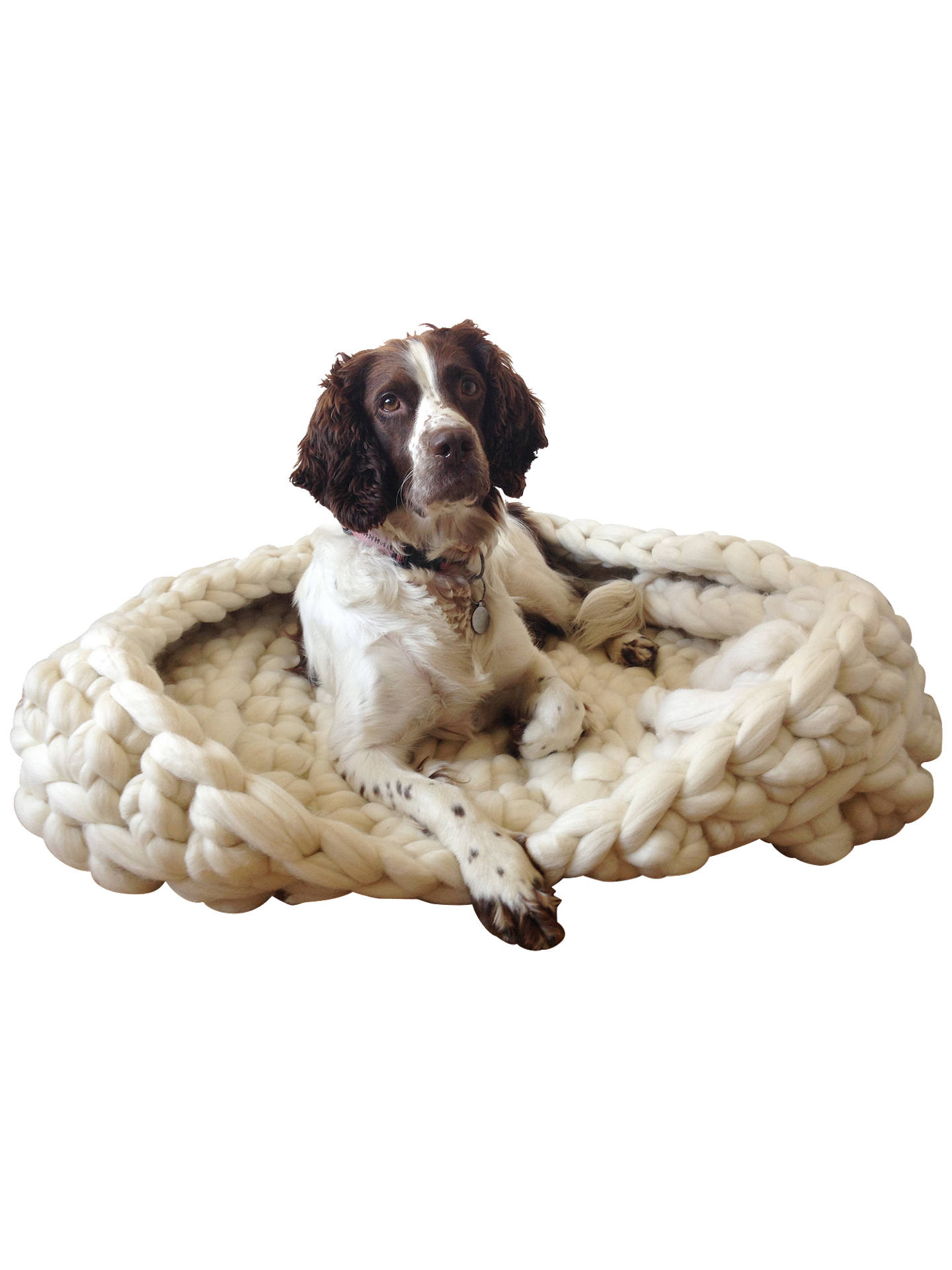 Wool Couture Extreme Yarn Dog Bed Crochet Kit Cream At John Lewis