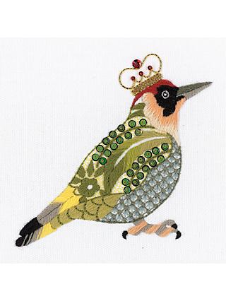 Nicola Jarvis Green Woodpecker Crewel Work Embroidery Kit