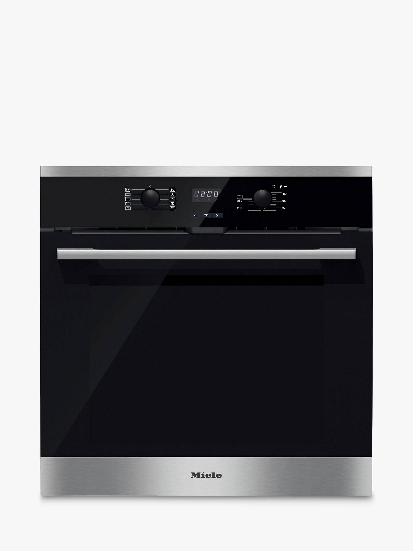 Buy Miele H2566BP Built-In Single Oven, Stainless Steel Online at johnlewis.com