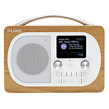 Buy Pure Evoke H4 DAB/DAB+/FM Bluetooth Radio, Oak + ChargePAK Online at johnlewis.com