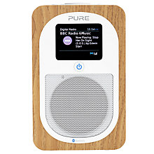 Buy Pure Evoke H3 DAB/DAB+/FM Bluetooth Radio, Oak + ChargePAK Online at johnlewis.com