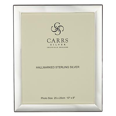Carrs Berkeley Plain Frame, 10 x 8, Sterling Silver