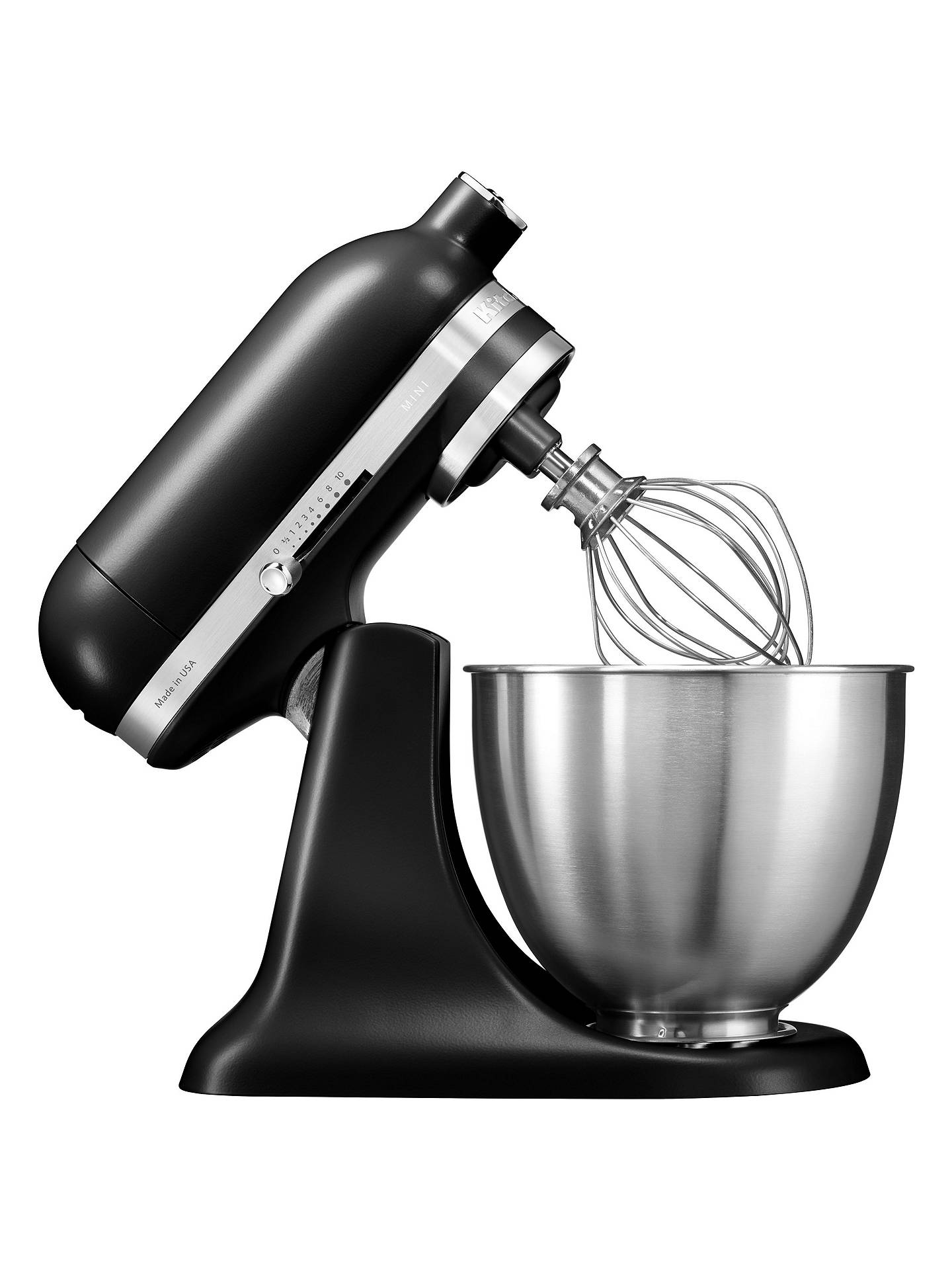 BuyKitchenAid Mini Stand Mixer, Matte Black Online at johnlewis.com