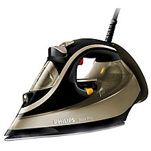 Buy Philips GC488700 Azur Pro Steam Iron, Black / Gold Online at johnlewis.com