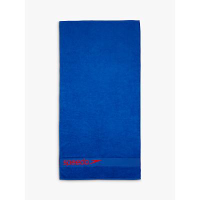 Speedo Woven Border Towel, Blue