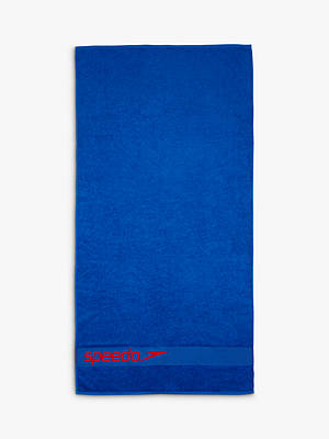 Buy Speedo Woven Border Towel, Blue Online at johnlewis.com