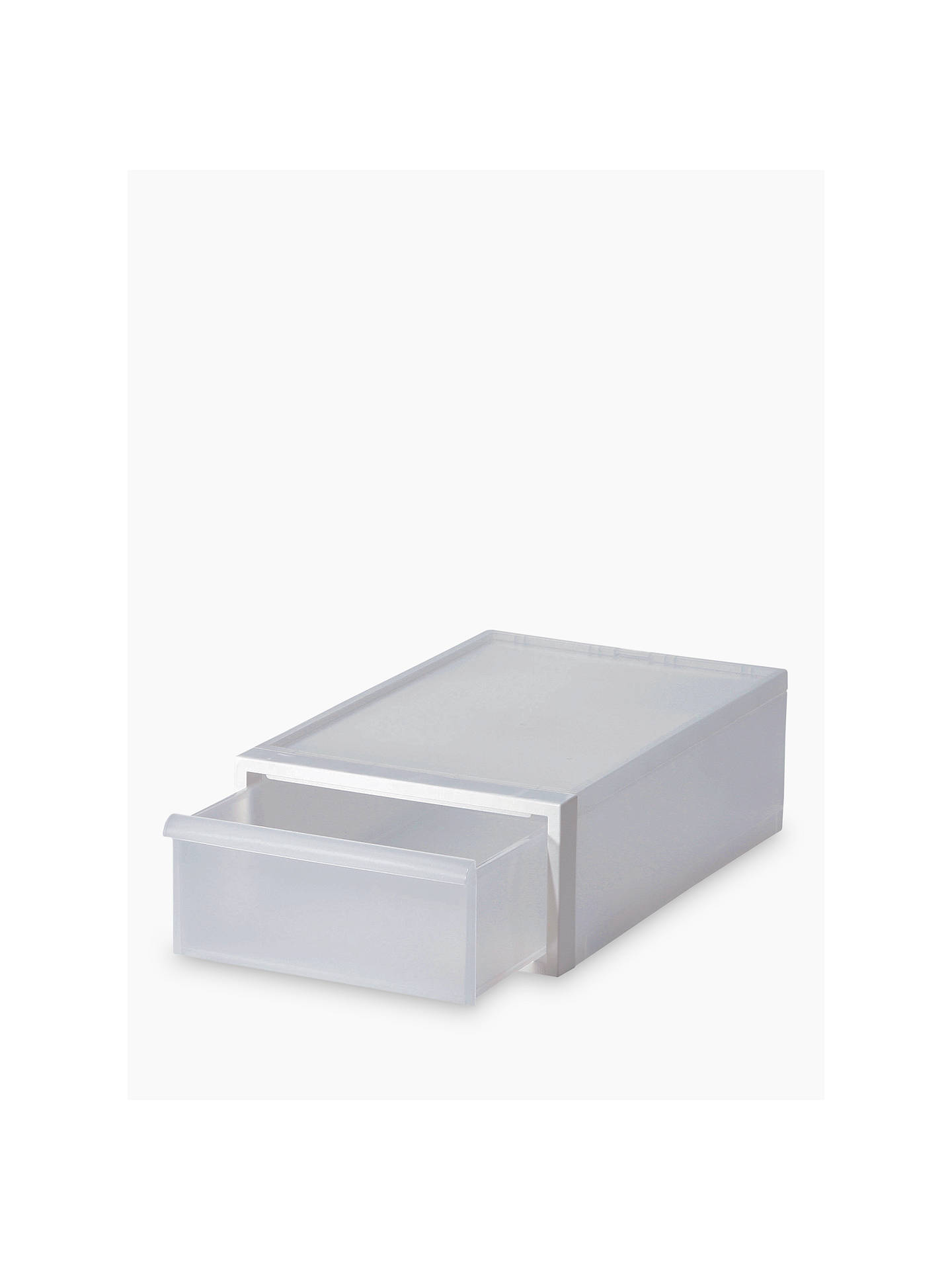 Buy Like-it Stacking Plastic Storage Drawer, H16cm, Clear Online at johnlewis.com