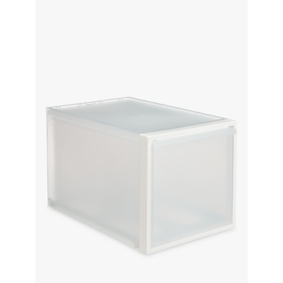 like-it Stacking Plastic Storage Drawer, H31cm, Clear