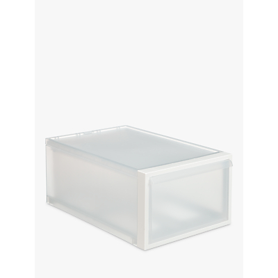 like-it Stacking Plastic Storage Drawer, H21cm, Clear